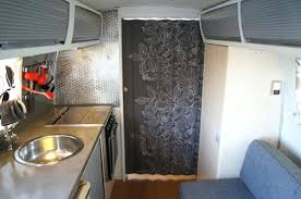 rv room divider ideas accordion door covered in fabric rv