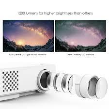 amazon com dbpower rd 810 1200 lumens led portable projector
