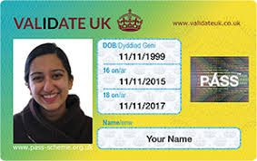 official uk id card for 16 to 18 year olds