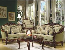 Furniture Set For Living Room by Fancy Light Green Wooden Sofa Set For Living Room Best Designs