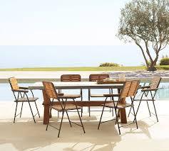 Dining Room Folding Chairs Abbott Rectangular Dining Table U0026 Tolland Folding Chair Set