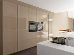 contemporary kitchen laminate island lacquered linea by