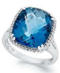 london blue topaz engagement ring 14k white gold ring cushion cut london blue topaz 9 3 8 ct t w