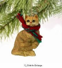 reduced handmade ceramic cat ornament stoneware striped tabby