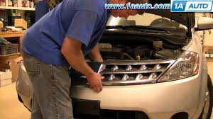 nissan rogue front bumper how to install replace radiator grill nissan murano 03 07 1aauto