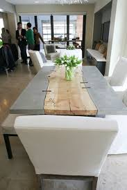 concrete and wood dining table chicago s smart home redesigned concrete dining table concrete