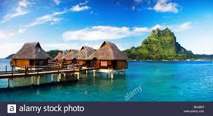 tahiti society islands society islands bora bora island sea huts