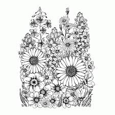 crafty individuals unmounted rubber stamp garden of flowers