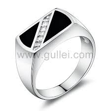 engagement ring for men personalized name engraved silver engagement ring for men