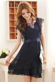 wholesale korean designer jk ladies fashion dress k8220 darkblue
