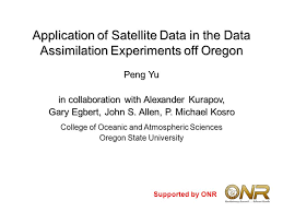 application of satellite data in the data assimilation experiments