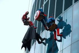 party city halloween commercial 2015 superheroes surpise kids at helen devos children u0027s hospital