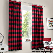 Black And White Bedroom Drapes Red Curtains And Window Treatments In The Interiors