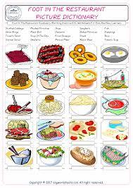 food in the restaurant free esl efl worksheets made by teachers