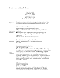 Resume Examples With Objectives by Resume Sample Administrative Assistant Free Letter Resume