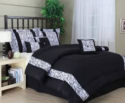 Zebra Comforter Set King Bedroom Black And White Full Size Comforted Bed Set With Floral