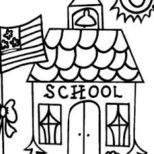 Coloring Page Of A School Welcome To School House Coloring Page Welcome To School House by Coloring Page Of A School