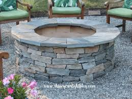 How To Build A Stone Patio by Installing A Capstone The Fire Pit Project Shine Your Light