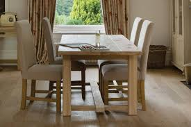 the farmhouse oak dining table by indigo furniture