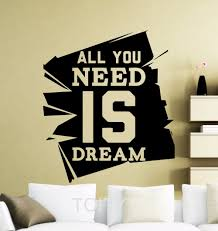 aliexpress com buy all you need is dream motivation quote wall aliexpress com buy all you need is dream motivation quote wall stickers inspirational word dorm studio office home vinyl decals art mural from reliable