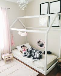 Floor Bed Frame Diy House Frame Floor Bed Plan Oh Happy Play