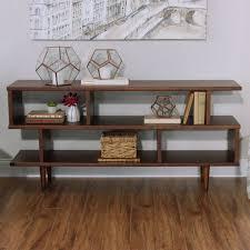 Japanese Style Living Room Furniture Wooden Shelves In The Nearby Walnut Brown Wood Ashlyn Bookshelf World Market