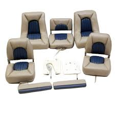 tracker 103119 procraft 170 duck taupe boat seat set of 5