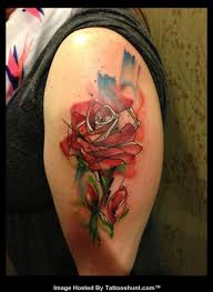abstract tattoo half sleeves abstract rose tattoo on left half