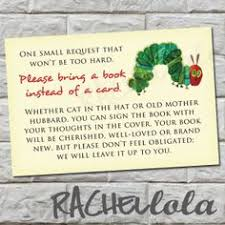 Bring Book Instead Of Card To Baby Shower Ask Baby Shower Guests To Bring