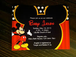 How To Make Minnie Mouse Invitation Cards Mickey Mouse Baby Shower Invitations U2013 Gangcraft Net