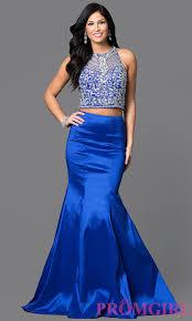 two piece long mermaid prom dress promgirl