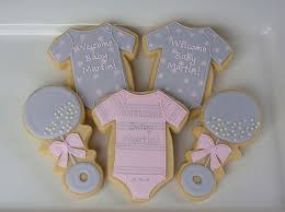 pink and gray baby shower s cookies pink and gray baby shower favors