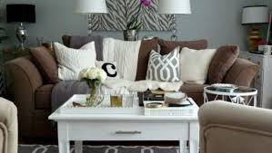 grey walls brown sofa dream living room with gray walls 16 selection home living now 11420