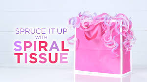 how to use tissue paper in a gift box how to put tissue spiral tissue in a gift bag