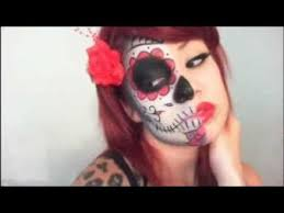 clic sugar skull makeup tutorial maria wooley this is my fave video so far