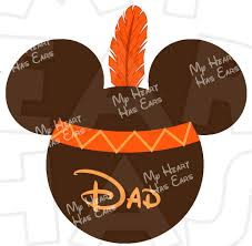mickey mouse indian instant thanksgiving digital clip