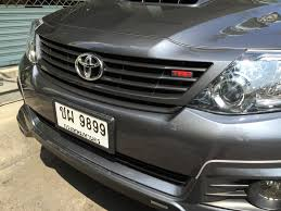 unpainted front grille trd style for toyota fortuner suv 2013 2014