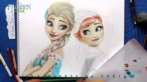 drawing elsa anna frozen fever