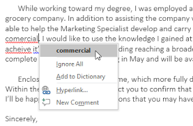Correct Way To Spell Resume Word 2016 Checking Spelling And Grammar Full Page