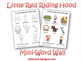 pre theme red riding hood pre kpages