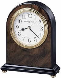 Wood Desk Clock Bulova B5401 Hampton Wood Desk Clock The Clock Depot