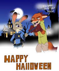 nick y judy especial de halloween by aidenleblohic on deviantart