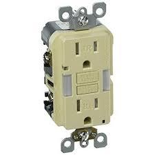 gfci receptacle with indicator light leviton x7592 i 3 wire 2 pole monochromatic specification grade