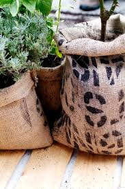 How To Make Planters by How To Make Coffee Bag Planter Pots Apartment Therapy