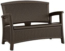 amazon com suncast elements loveseat with storage java garden
