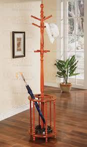 amazon com coaster home furnishings wood coat rack with umbrella