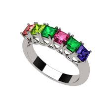 birthstone rings for mothers rings mothers rings nana princess cut lucita style 1 to 7