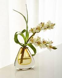 Orchid Flower Arrangements Faux Floral Arrangements At Neiman Marcus