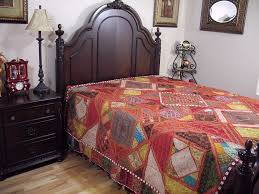 inspired bedding embroidered india inspired bedding decorative handmade kutch