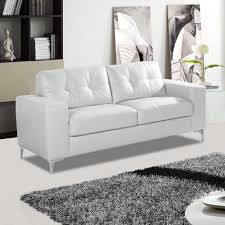 White Leather Sofas Italian Inspired White Leather Sofa Collection With Chrome